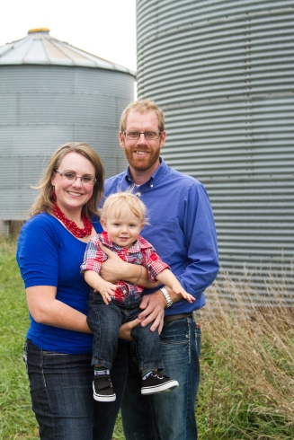 Kim Baldwin farms with her husband, Adam, and their son, Banks, in McPherson County.