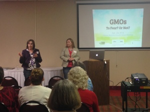 CommonGround Kansas volunteers LaVell Winsor and Laura Handke discussed common concerns about GMOs and helped provide clarity to make sense of confusing information.