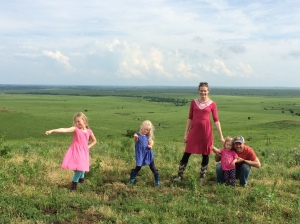 Frances and Kris Graves and their daughters represent the fifth and sixth generations on their Bartlett, KS, ranch.